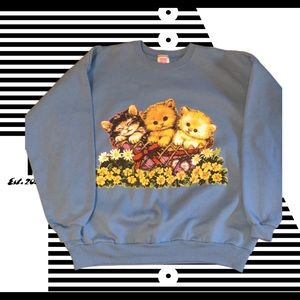 Vintage Cat Sweatshirt